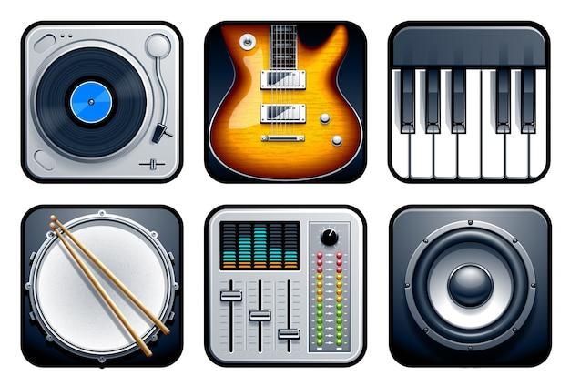 Colección de elementos musicales