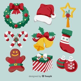 Colección elementos de navidad