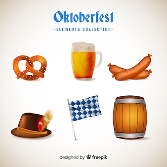 Colección elementos de oktoberfest