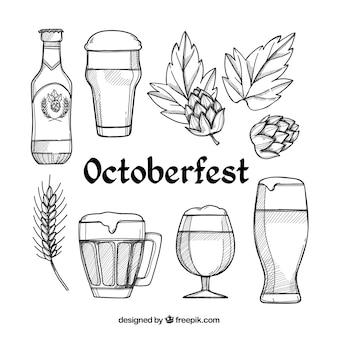 Colección de elementos del oktoberfest