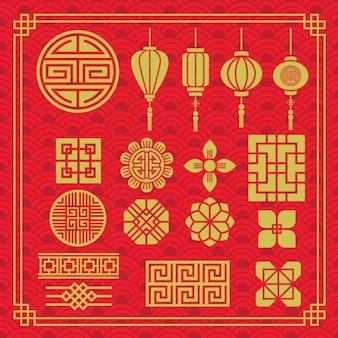 Colección de elementos orientales