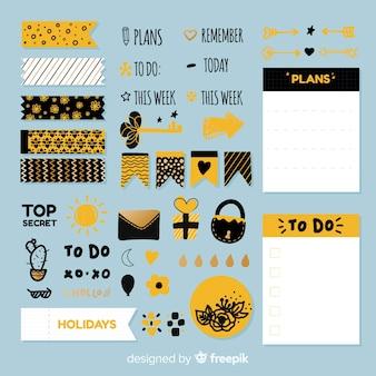 Colección de elementos de planificación modernos