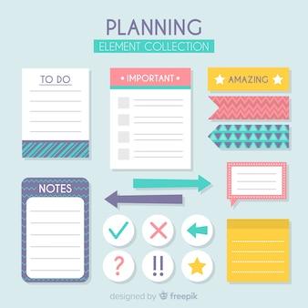 Colección de elementos de planificación
