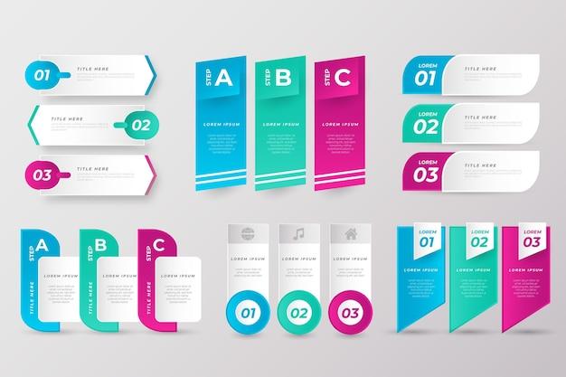 Colección de elementos de presentación empresarial.
