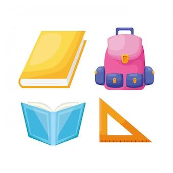Colección de elementos de regreso a la escuela