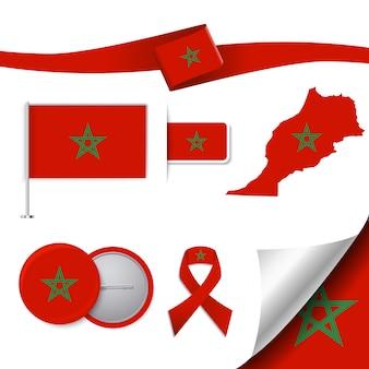 Colección de elementos representativos de marruecos