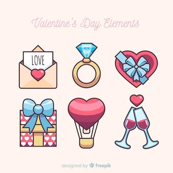 Colección elementos san valentín