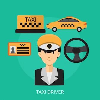 Colección de elementos de taxi
