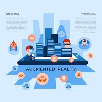 Colección de elementos de tecnología de realidad aumentada.