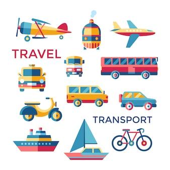 Colección de elementos de transporte