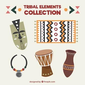 Colección de elementos tribales