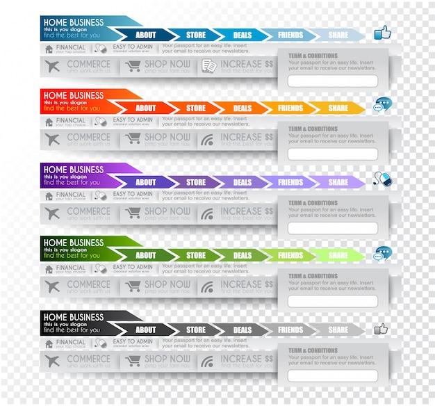 Colección de elementos web.