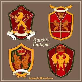 Colección de emblema de caballero