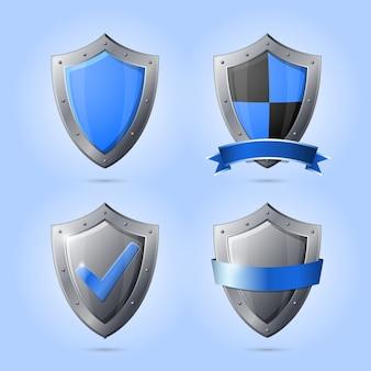 Colección de emblemas de escudo