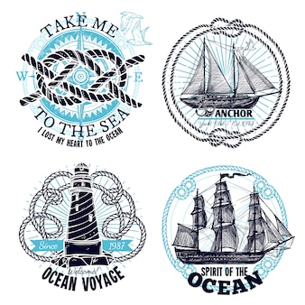 Colección de emblemas marinos