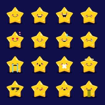 Colección de emoticonos estrella