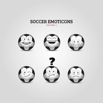 Colección de emoticonos de fútbol