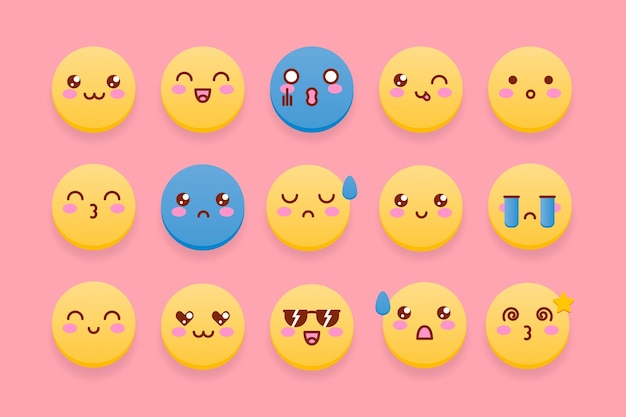 Colección de emoticonos lindos