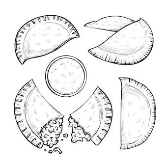 Colección de empanada monocromática