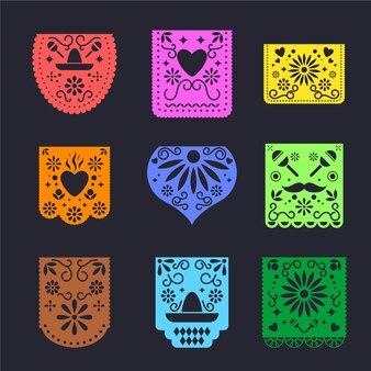 Colección de empavesado de estilo mexicano