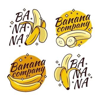 Colección de empresa de logo de plátano