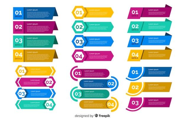 Colección empresarial de elementos infográficos