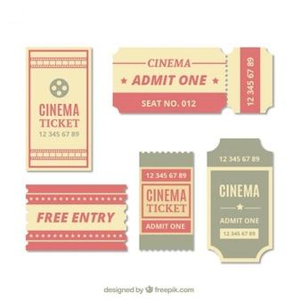 Colección de entradas de cine vintage