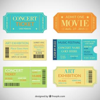 Colección de entradas de teatro