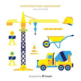Colección equipamiento plano de construcción