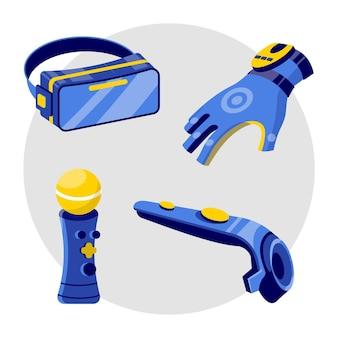 Colección de equipos de realidad virtual