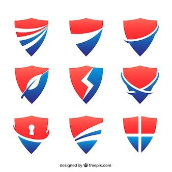 Colección de escudos abstractos
