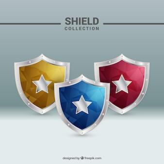 Colección escudos en estilo abstracto