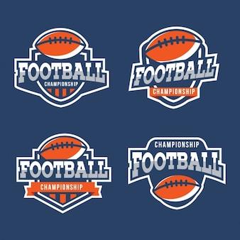 Colección de escudos de fútbol americano
