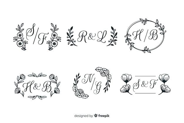 Colección de esmalte de boda grabado