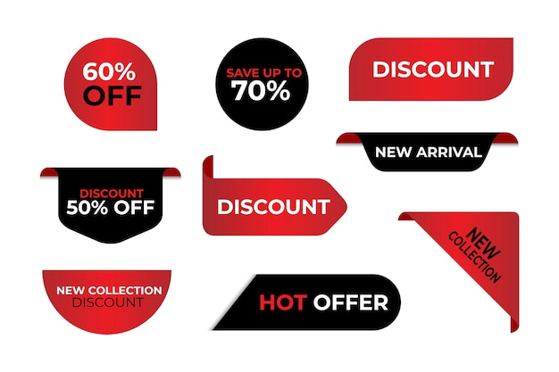 Colección especial de etiquetas de ventas