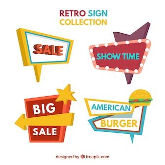 Colección espectacular de señales vintage