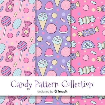 Colección estampados de caramelos