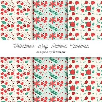Colección de estampados del día de san valentín