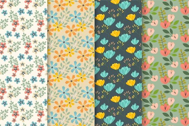 Colección de estampados florales de primavera