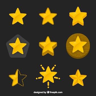 Colección de estrellas amarillas