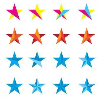 Colección de estrellas coloridas