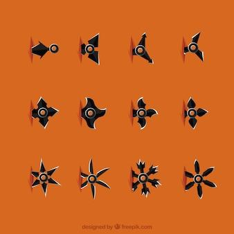 Colección de estrellas de ninja