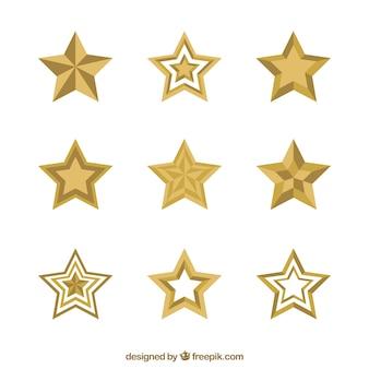 Colección de estrellas planas