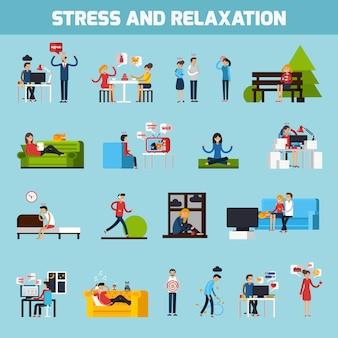 Colección de estrés y relajación