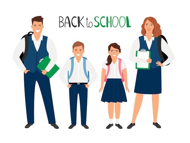 Colección de estudiantes de la escuela