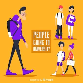 Colección de estudiantes universitarios