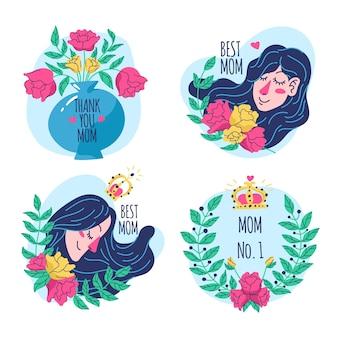 Colección de etiqueta del día de la madre