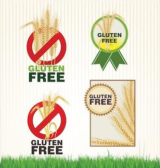 Colección de etiqueta libre de gluten