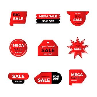Colección de etiqueta roja de venta