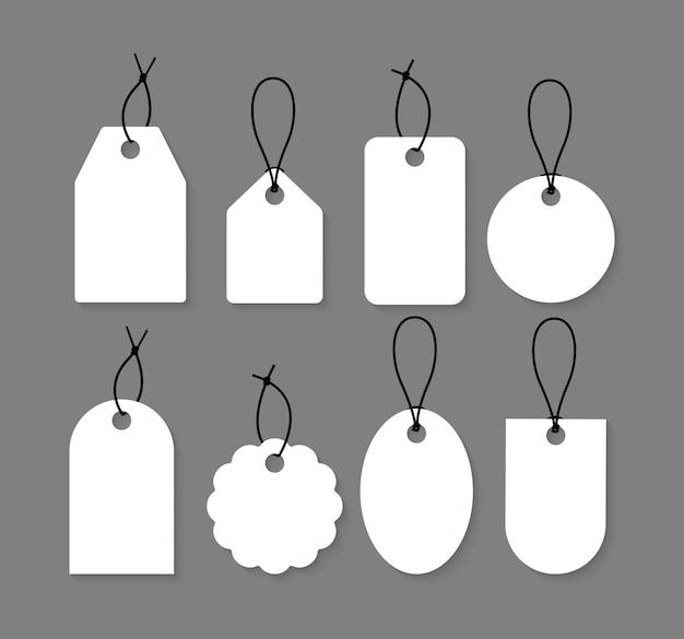 Colección de etiquetas en blanco. conjunto de etiquetas de precios.
